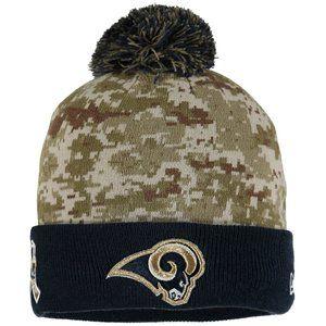 new NEW ERA RAMS NFL SPORT KNIT CAMO SERVICE HAT